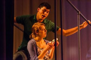 Danny Bertaux (above) as Gabe and Christie Smith (below) as Natalie in Next to Normal