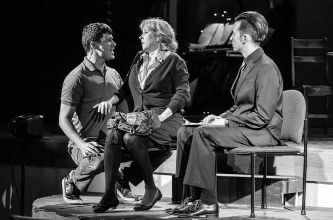 Danny Bertaux (left) as Gabe, Susan Schindler (center) as Diana and Jeremy Goldman (right) as Dan in Next to Normal