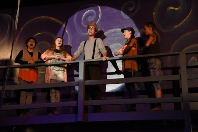 Left to Right, Anna DeBlasio, Sarah Makl, as Urchins, Piers Portfolio as Cocky, Charlize Lefter and Sarah Grace Clifton as Urchins