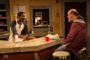 Najee Banks (left) as Franco Wicks and Tad Janes (right) as Arthur Przybyszewski in Superior Donuts at the MET