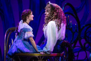Brooke Quintana (left) as Belle and Sam Hartley (right) as Beast in Beauty & The Beast