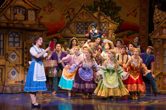 Brooke Quintana (left) as Belle and the cast of Disney's Beauty & The Beast