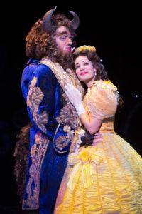 Sam Hartley (left) as Beast and Brooke Quintana (right) as Belle in Beauty & The Beast