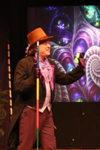 John Dignam as Willy Wonka in Roald Dahl's Willy Wonka at The Salem Players