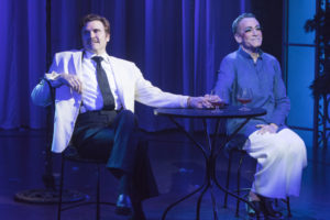 Brent Barrett (Georges) and Bobby Smith (Albin) in La Cage Aux Follesnow playing at Signature Theatre through July 10, 2016