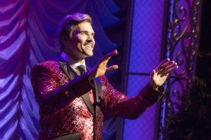 Brent Barrett (Georges) in La Cage Aux Folles now playing at Signature Theatre through July 10, 2016.