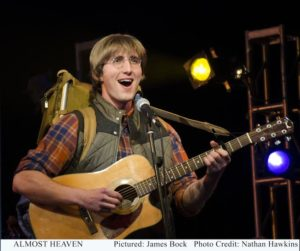 James Bock as John Denver in Almost Heaven: Songs of John Denver at Infinity Theatre Company