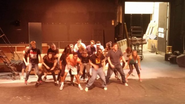 The Cast of American Idiot in rehearsal at Milburn Stone Theatre