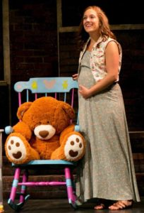 Lauren Wright as Lizzie Fields in Baby at Infinity Theatre Company