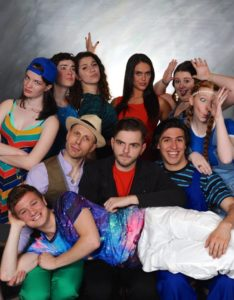 The cast of Godspell at Cockpit in Court