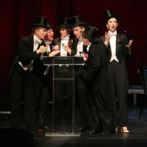 Happenstance Theatre accepting the Helen Hayes Award for Outstanding Ensemble at the 2016 award ceremony