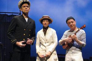 Scott Sedar (left), Sabrina Mandell (center), and Mark Jaster (right) in Low Tide Hotel at Capital Fringe Festival 2007