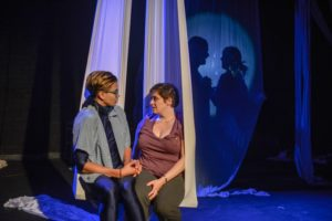 Kaya Vision (left) as Blue and Genevieve de Mahy (right) as Beck in Midlife by Ben Hoover