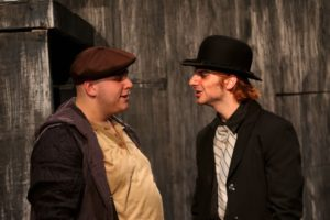 Bobby Henneberg (left) as Mr. Vanemar and Matthew Payne (right) as Mr. Croup in Neil Gaiman's Neverwhere