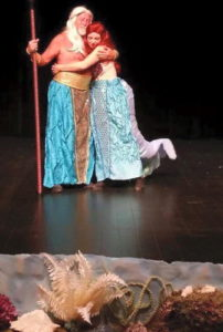 Joe Mannherz (left) as King Triton and Coreen Ayr Hamilton (right) as Ariel