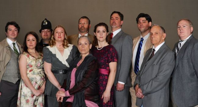 The cast of Towards Zero by Agatha Christie at Cockpit in Court