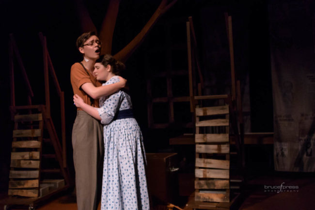 Tommy Eyes as Leo Frank and Lauren Alberg as Lucille Frank