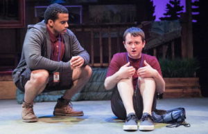 Thony Mena (left) and Chris Stinson (right) in Another Way Home at Theater J