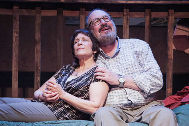 Naomi Jacobson (left) and Rick Foucheux (right) in Another Way Home at Theater J