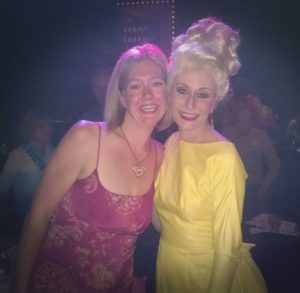 TheatreBloom Reviewer Amanda N. Gunther (left) with Heather Marie Beck (right) as Velma Von Tussle