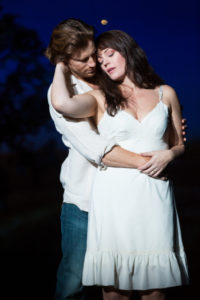 Andrew Samonsky (Robert) and Elizabeth Stanley (Francesca) in the national tour of THE BRIDGES OF MADISON COUNTY.