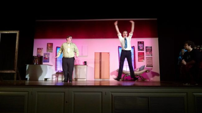 Dave Martinek (left) as George and Nick Zuelsdorf (right) as Robert Martin