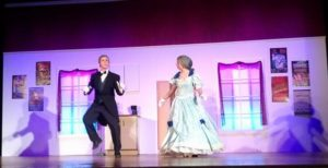Charlie Roberts (left) as Underling and Abby White (right) as Mrs. Tottendale in The Drowsy Chaperone