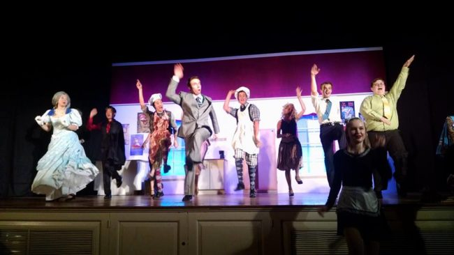 "The principal cast of The Drowsy Chaperone doing ""Toledo Surprise"" at STAR Ltd"