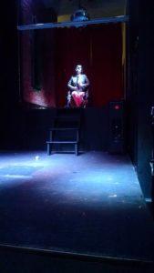 Miss Dis-abili-tease Jacqueline Boxx as Professor X in Heavenly Bodies