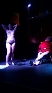 Fanny Rouge performing with Zapp Brannigan at Heavenly Bodies