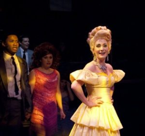 Heather Marie Beck (right) as Velma Von Tussle in the 2010 production of Hairspray at Toby's Dinner Theatre