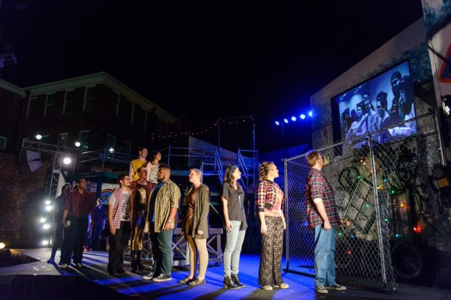 The cast of Rent at Annapolis Summer Garden Theatre
