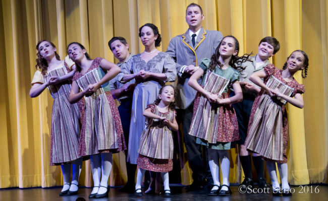 "The von Trapp Family Singers performing at The Concert Hall Stage in ""The Sound of Music"""