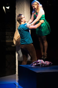 Garrett Zink (left) as Jon and Clare Kneebone (right) as Susan in Tick Tick BOOM!