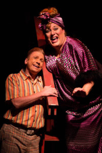 David James (left) as Wilbur and Lawrence B. Munsey (right) as Edna Turnblad in Hairspray
