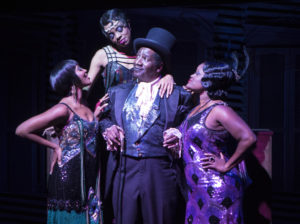 Cleavant Derricks (Chimney Man) with Kara-Tameika Watkins, Eben K. Logan and Nova Y. Paton inJelly's Last Jam at Signature Theatre