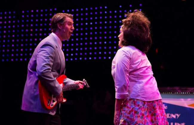 "Justin Calhoun (left) as Link Larkin and Christie Graham (right) as Tracy Turnblad during ""It Takes Two"""