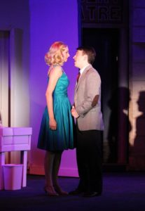 Erica Miller (left) as Ulla and Nathan Bowen (right) as Leo Bloom