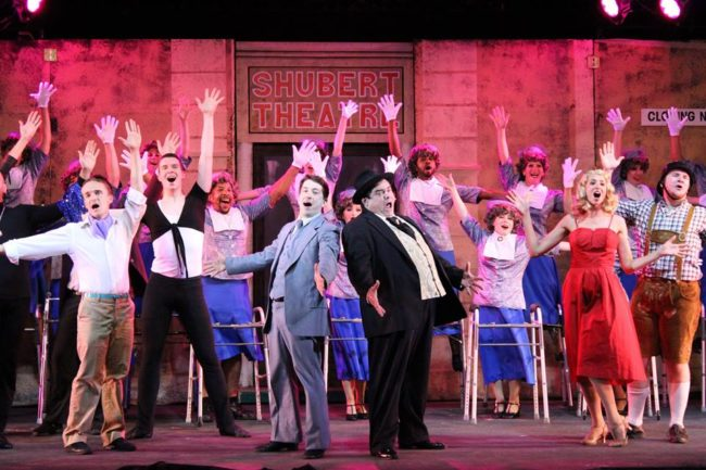 The cast of The Producers at Annapolis Summer Garden Theatre