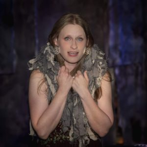 Christine Demuth as Old Crone in The Missing Piece at Stillpointe Theatre