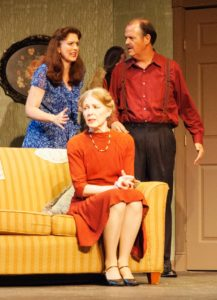 L to R Mary Rogers as Bella, Jeanne Louise as Gert and Brian Binney as Louie