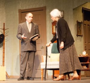 L to R Steve Feder as Eddie and Leah Mazade as Grandma Kurnitz