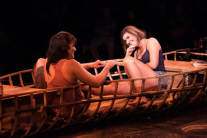 Rachel Zampelli (left) as Kendra and Maria Rizzo (right) as Betty in The Gulf by Audrey Cefaly