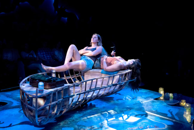 Maria Rizzo (left) as Betty and Rachel Zampelli (right) as Kendra in The Gulf by Audrey Cefaly