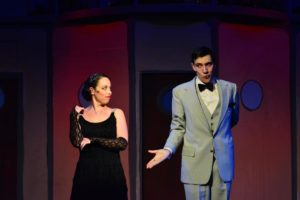 Julie Parrish (left) as Reno Sweeney and Nate Stauffer (right) as Sir Evelyn Oakleigh