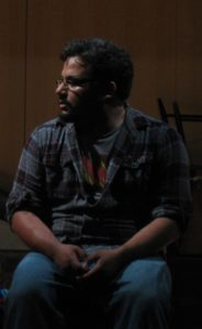Justin Lawson Isett as Michael in The Suicide Play by Audrey Cefaly