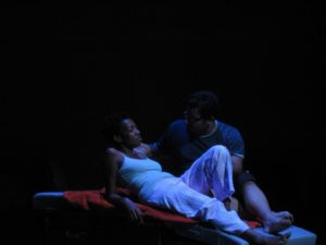 Lauren Erica Jackson (left) as Alice2 and Justin Lawson Isett (right) as Bob2 in I Remember by Kevin J. Costa, PhD