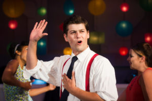 Matthew Hirsh stars as Frank Abagnale Jr. in Catch Me If You Can at NextStop Theatre