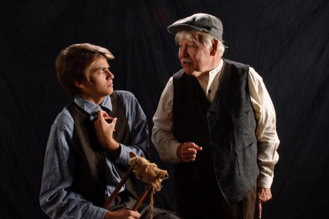 Jack Leitess (left) as Billy Claven and Edd Miller (right) as Johnnypateenmike