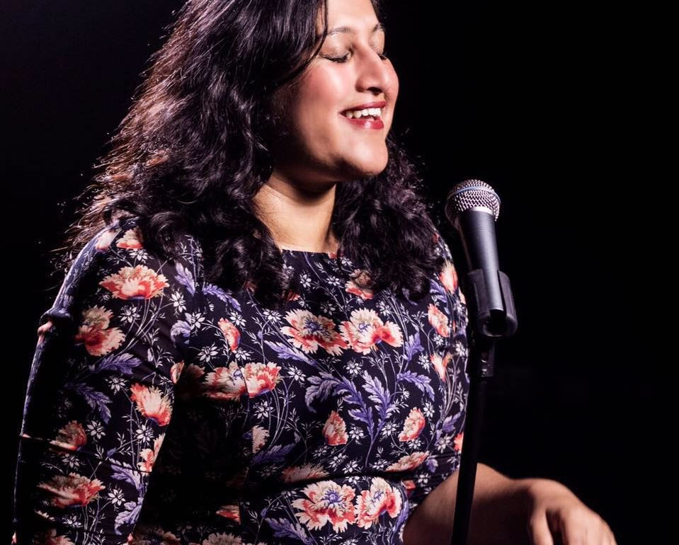 "Ritija Gupta, writer and performer of ""Charming the Destroyer: Questionable Choices in Search of the Sublime"""